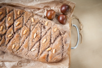 wholemeal chestnut bread with rosemary and pine nuts