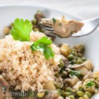 Amazing Artichoke and Pea Quinoa.