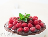 Rich Chocolate Tart with Fresh Raspberries