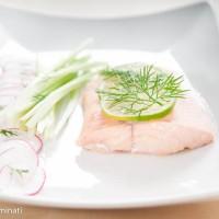 Salmon with lime and balsamic vinaigrette
