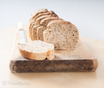 Mixed seed wholemeal bread (high fibre food)