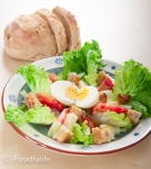 Gorgonzola Salad With Rustic Bread.