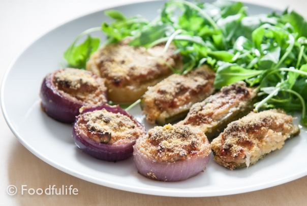Stuffed vegetables (gluten-free and vegetarian)_ Verdure ripiene vegetariane, senza glutine.