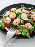 Quick And Easy: Prawn Salad With Rocket And Pomegranate