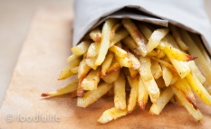 "Rosemary and garlic skinny ""fries""."