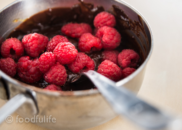 Dark Chocolate Soufflé With Fresh Raspberries-4