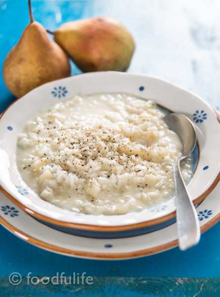 Pear And Gorgonzola Risotto (no oil, no butter) | Foodfulife