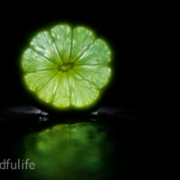 A Picture A Day : Lime With Backlight And Water