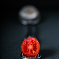 A Picture A Day : Datterino tomato on spoon