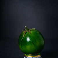 A Picture A Day : Green Camone Tomato On Bottle Cups