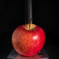 Food Photography : Red Apple On Dark Background