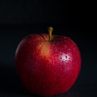 Food Photography : Apple With Dark Background