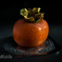 Food Photography : Persimmon With Droplets