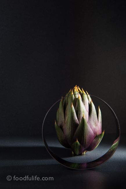 Artichoke with pastry cutter