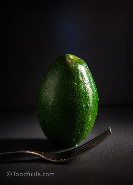 Avocado with fork